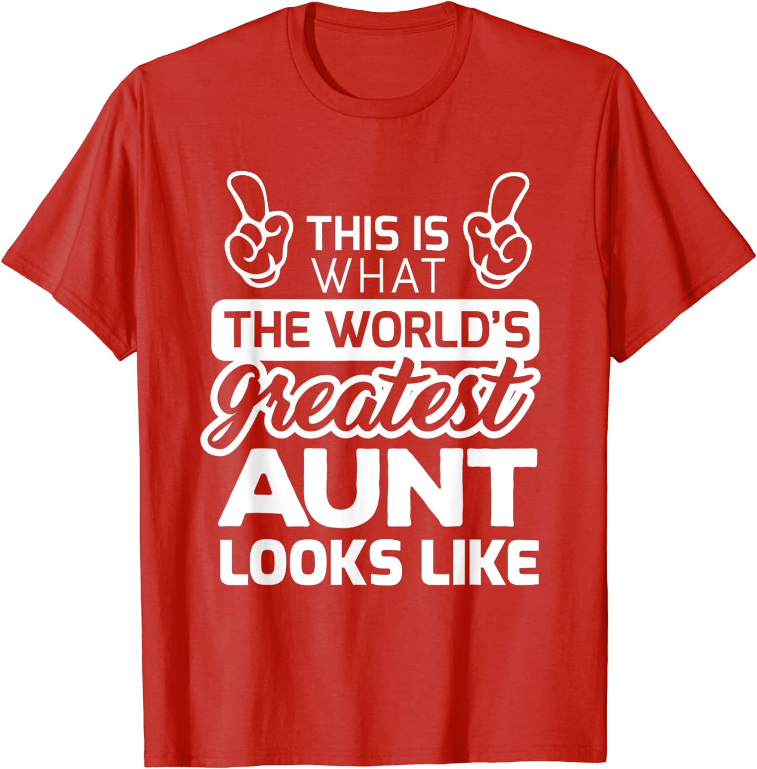 World/'s Best Aunt Ribbon #1 Greatest In The Award Family Love My Juniors T-Shirt