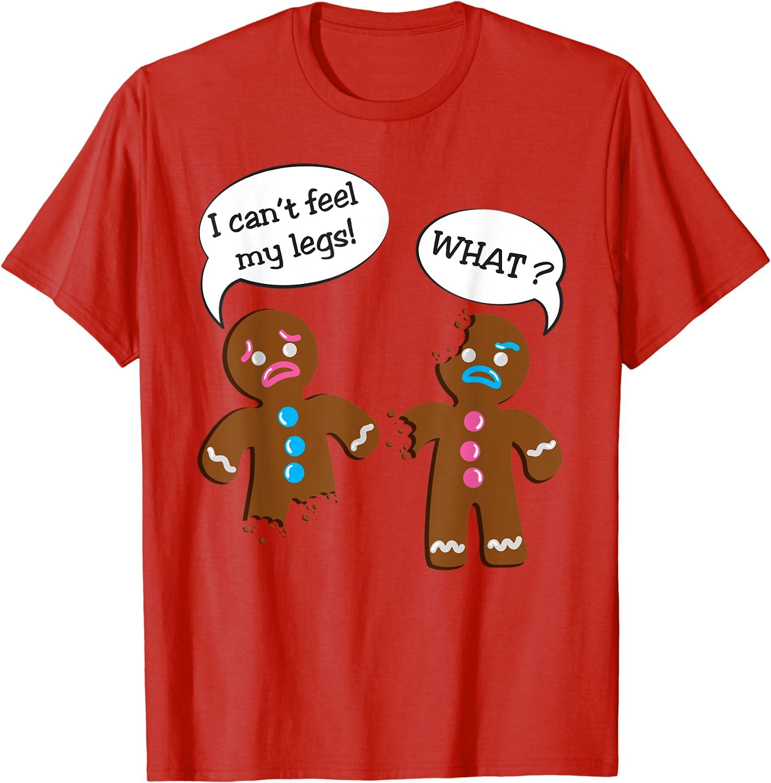 Gingerbread House Ugly Christmas Kids Fine Jersey T Shirt Gingerbread Man Reindeer