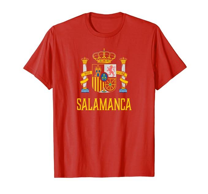 Amazon.com: Salamanca, España – Español Espana playera, Rojo ...