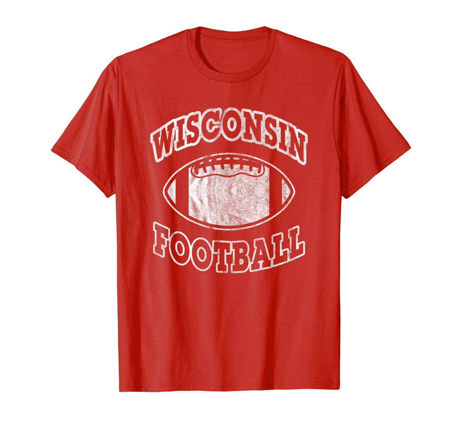Wisconsin Football Vintage Distressed T-Shirt-TH