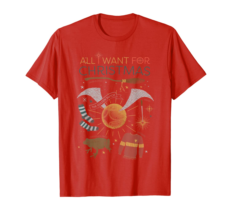 Harry Potter Christmas Shirt.Amazon Com Harry Potter All I Want For Christmas T Shirt