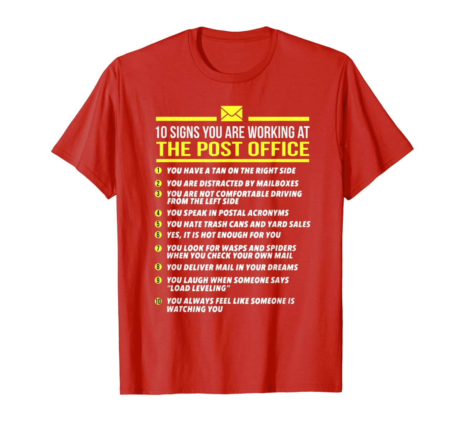 US Postal Service T Shirt -10 Signs You're Working at Post