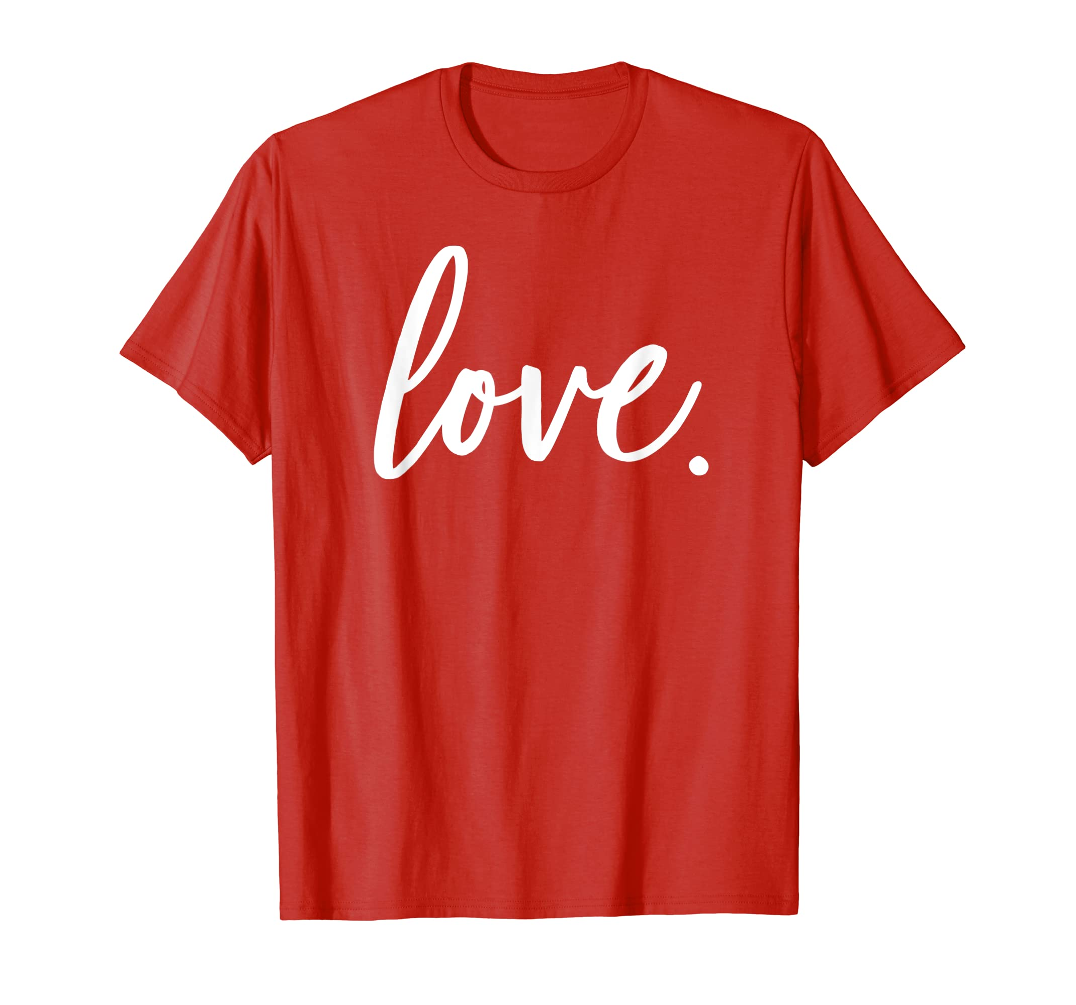 c8acc9e67 Amazon.com: Cute Cursive Love Valentines Day Red T Shirt Top For Women:  Clothing