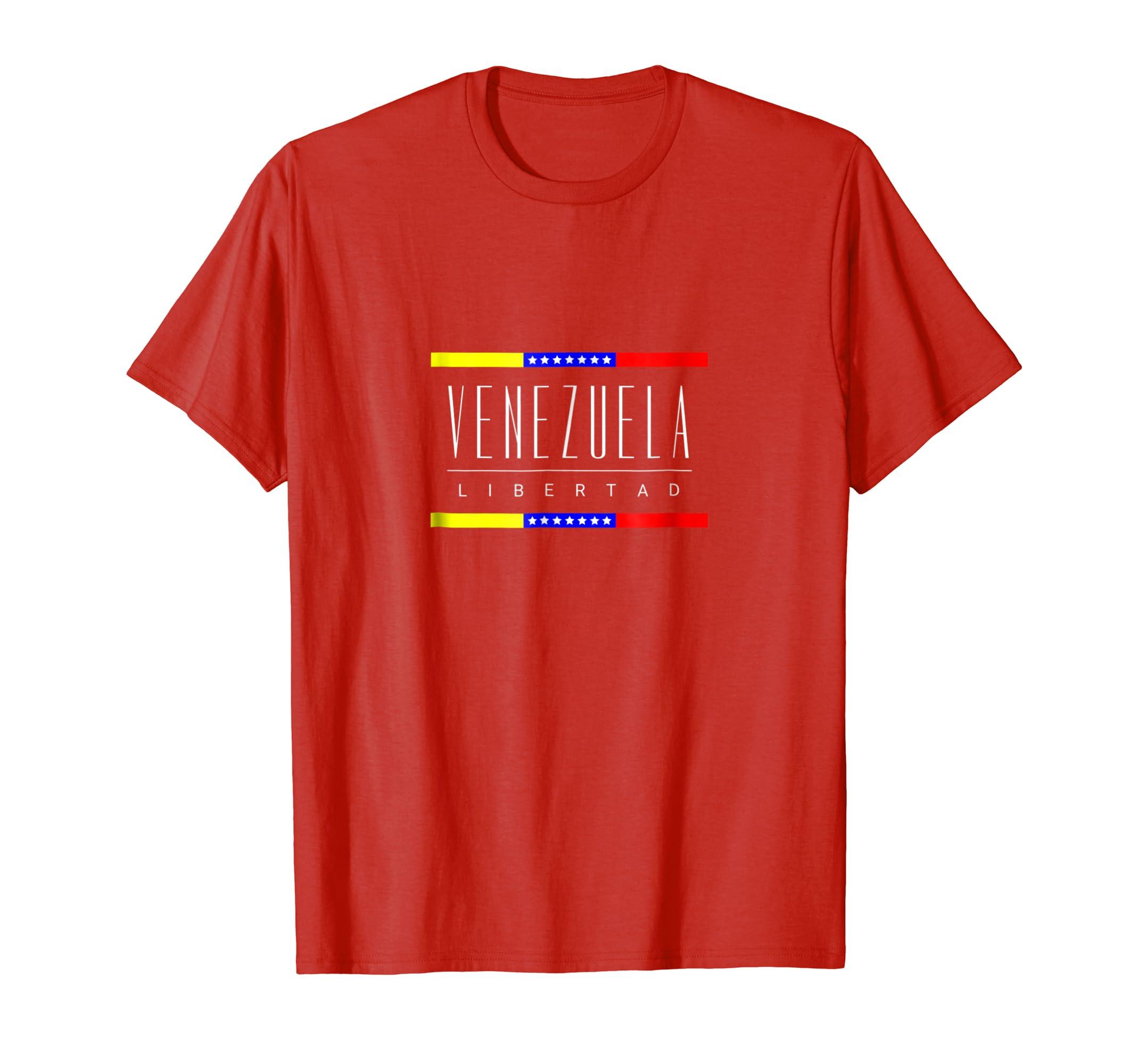 Amazon.com: Venezuela Shirt Libertad Tee Tricolor Star flag Venezuela: Clothing