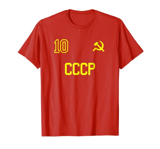 eab0b832da8 Image Unavailable. Image not available for. Color: Retro USSR Soccer Jersey  CCCP Soviet Union Football T-Shirt