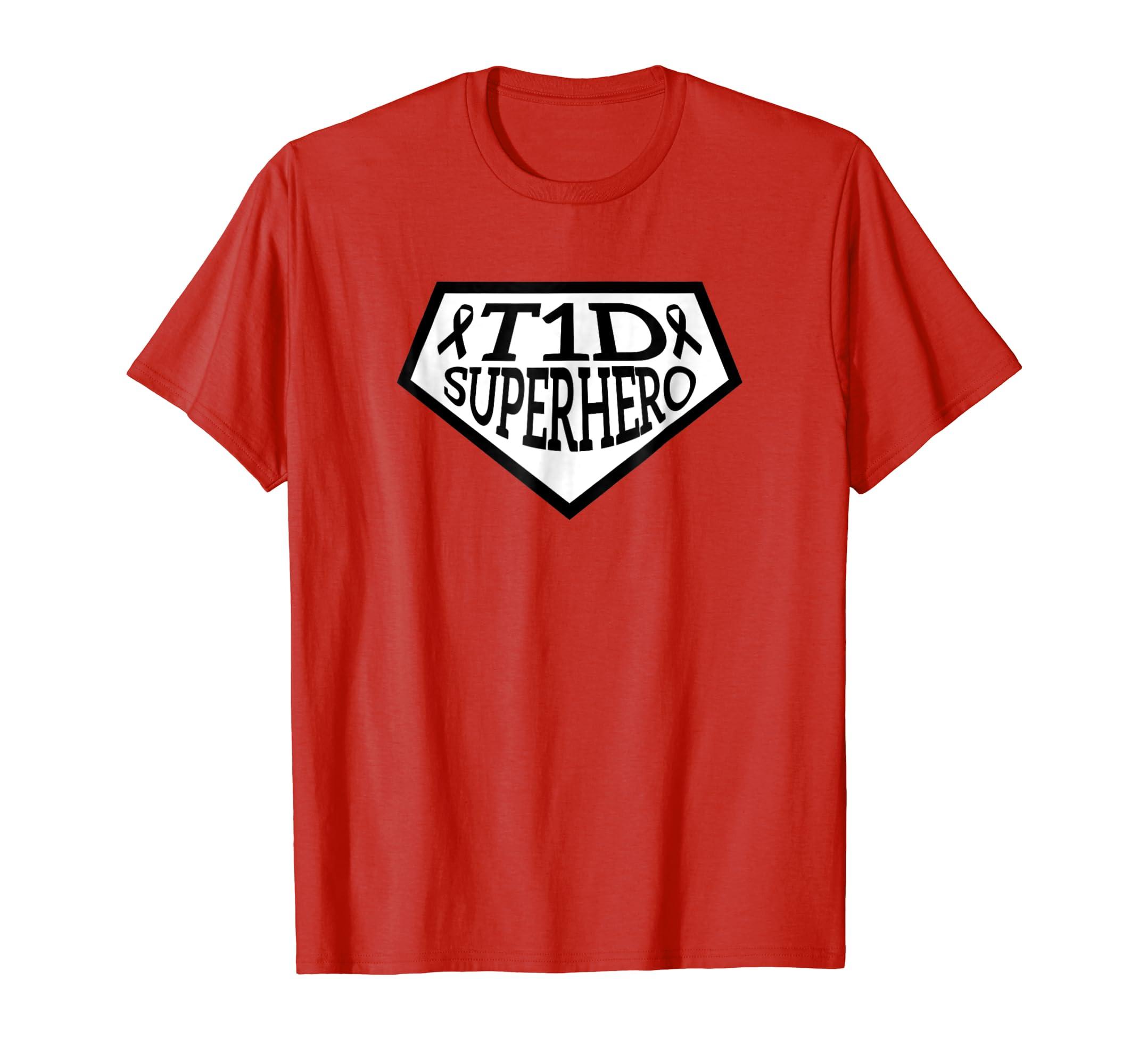T1D Superhero Type1 diabetes shirt for kids t1 Men Women Tee-azvn