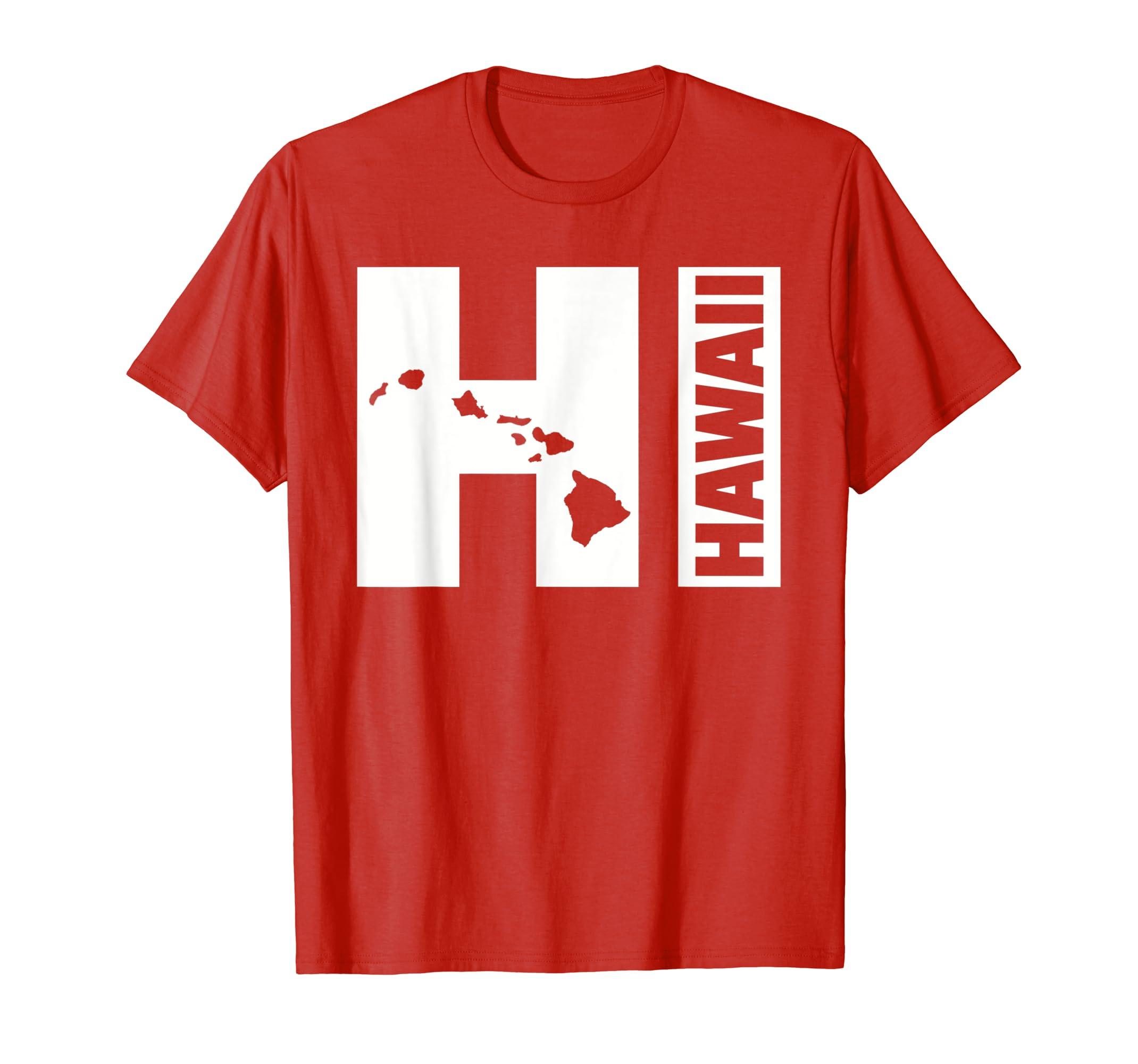 HI Hawaii islands T-Shirt-Teehay