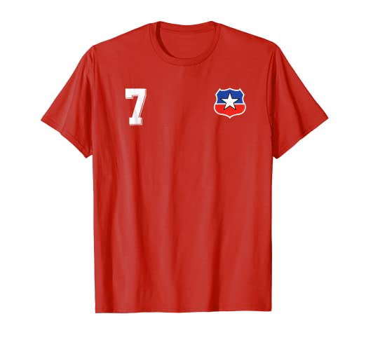 Camiseta Futbol Chile Soccer La Roja T-Shirt number 7 home