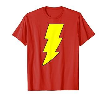 12549075b5 Amazon.com: Shazam! Logo T Shirt: Clothing