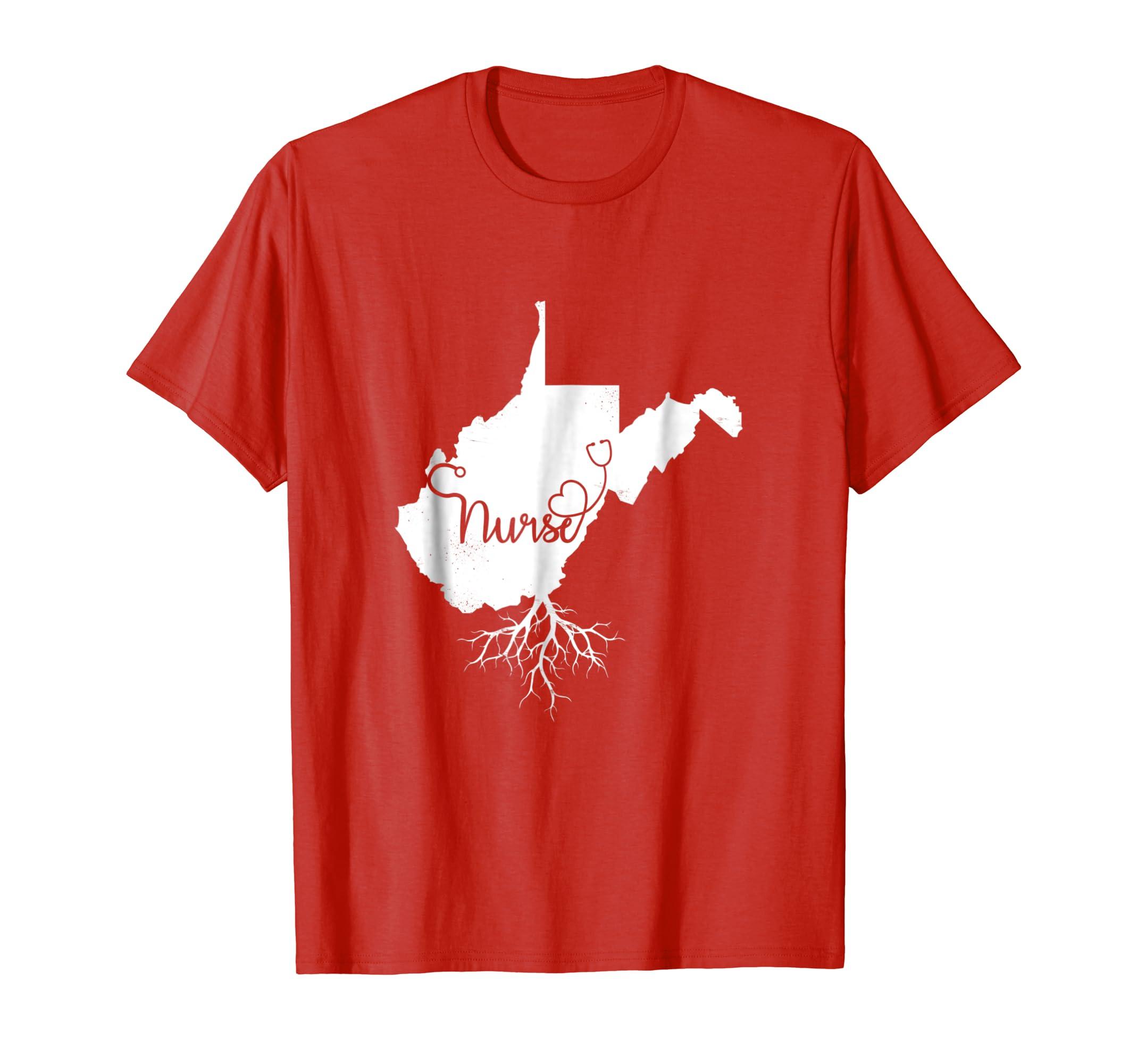 Excellent Amazon Com West Virginia Roots Nurse State Map Wv Home Love Home Interior And Landscaping Ymoonbapapsignezvosmurscom