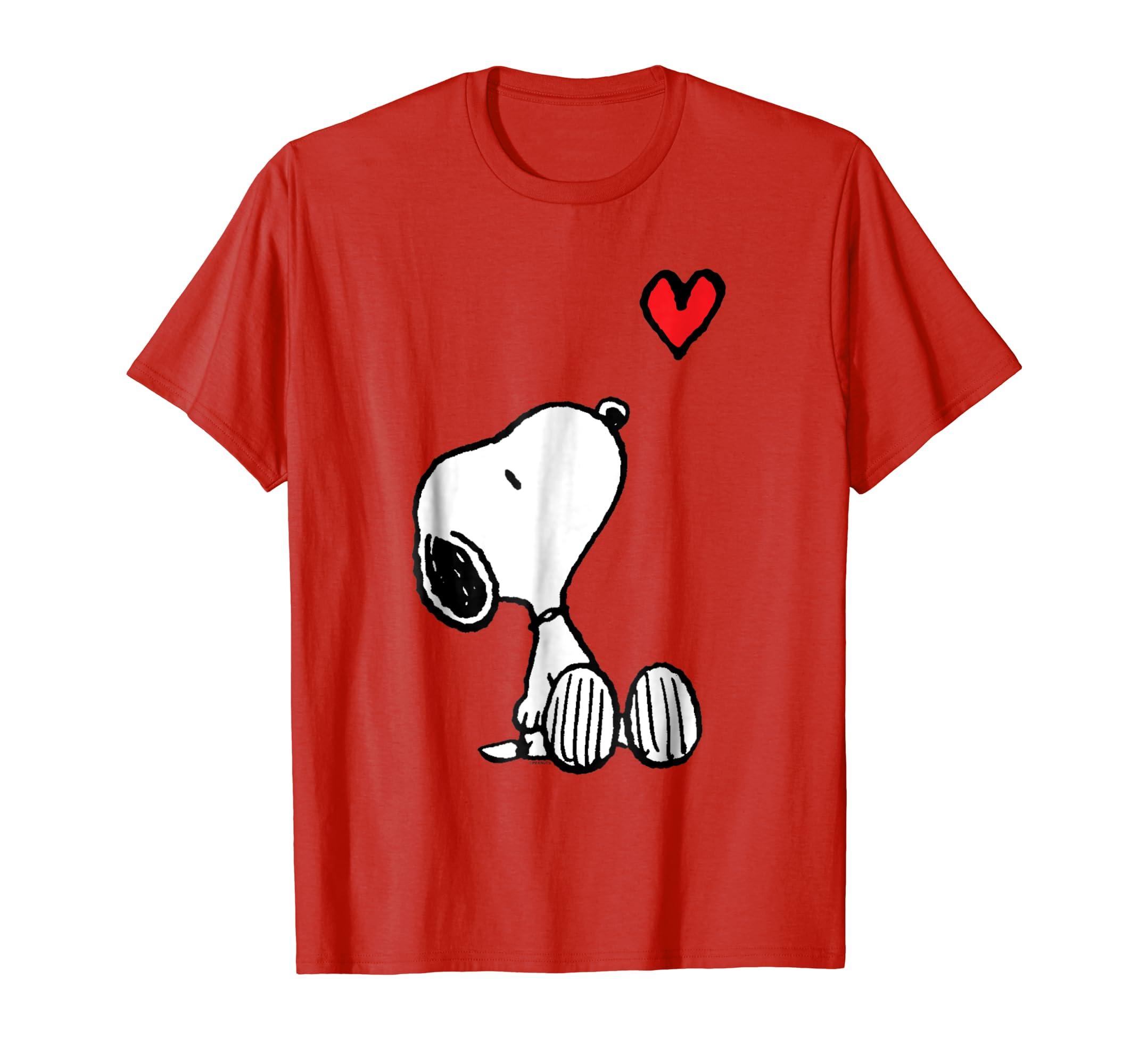 Peanuts Heart Sitting Snoopy T-Shirt-fa