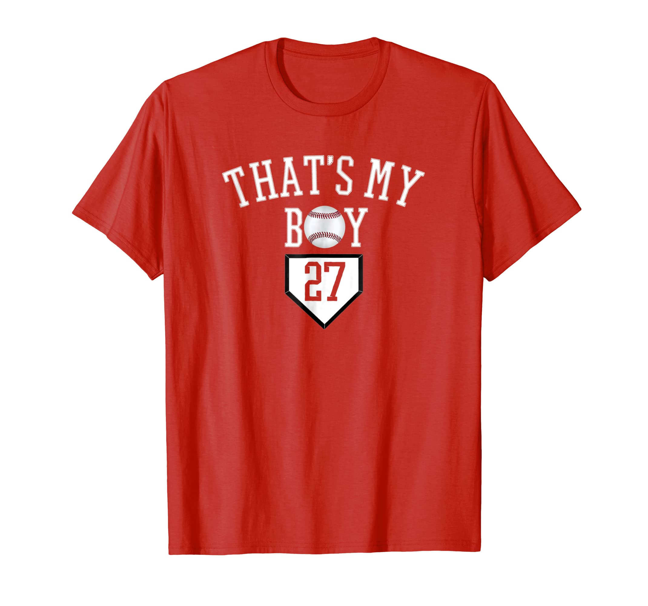 #27 Thats My Boy Baseball Number Shirt-Baseball Mom Dad Tee-alottee gift