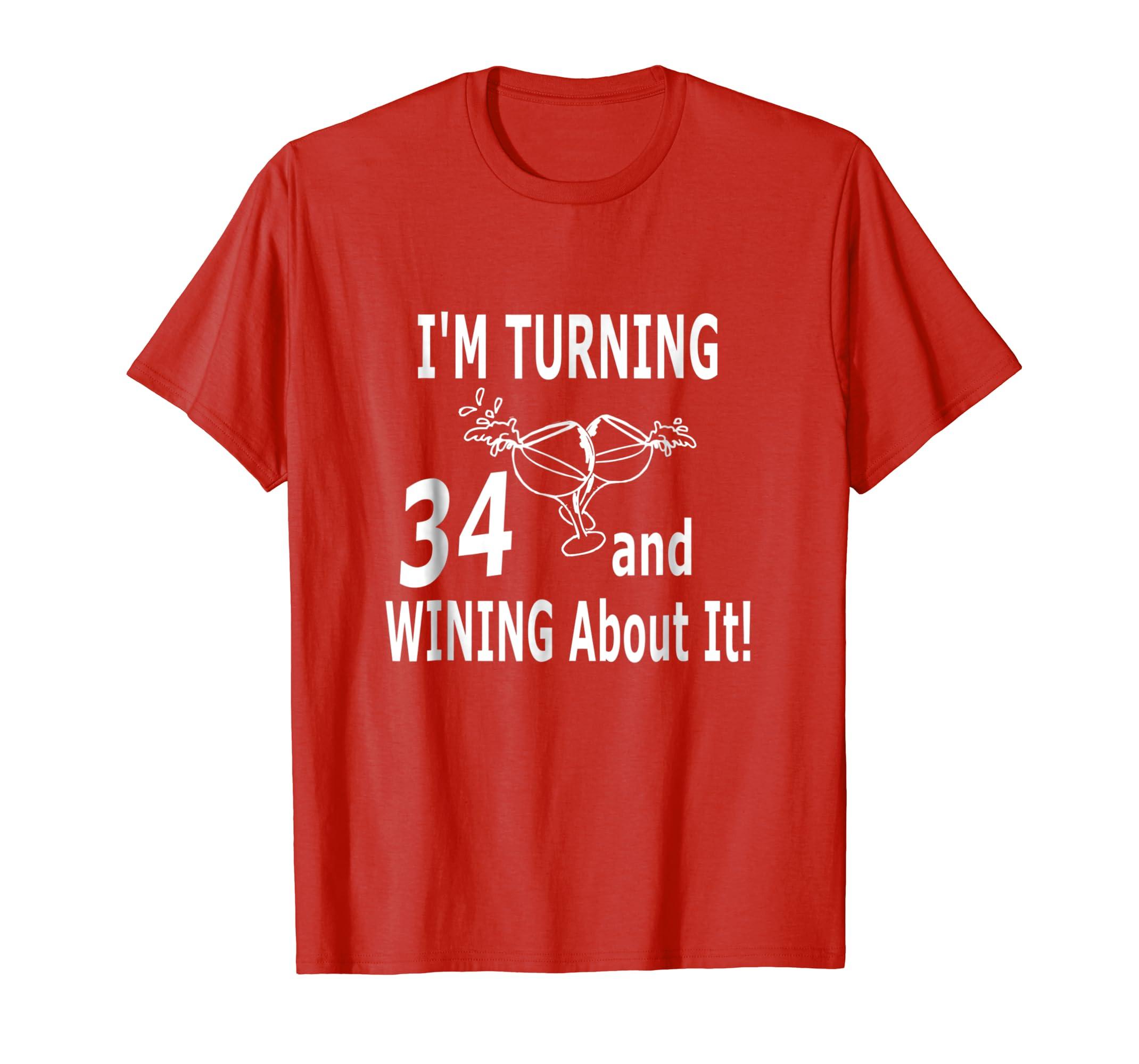 Amazon 34th Birthday Shirts For Men Women Turning 34 Year Old Shirt Clothing