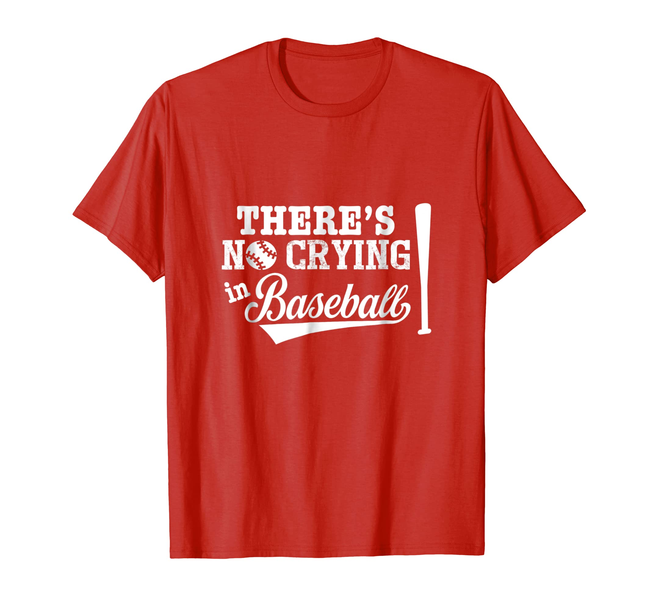 There's No Crying In Baseball   Funny Baseball T Shirt Gifts-azvn