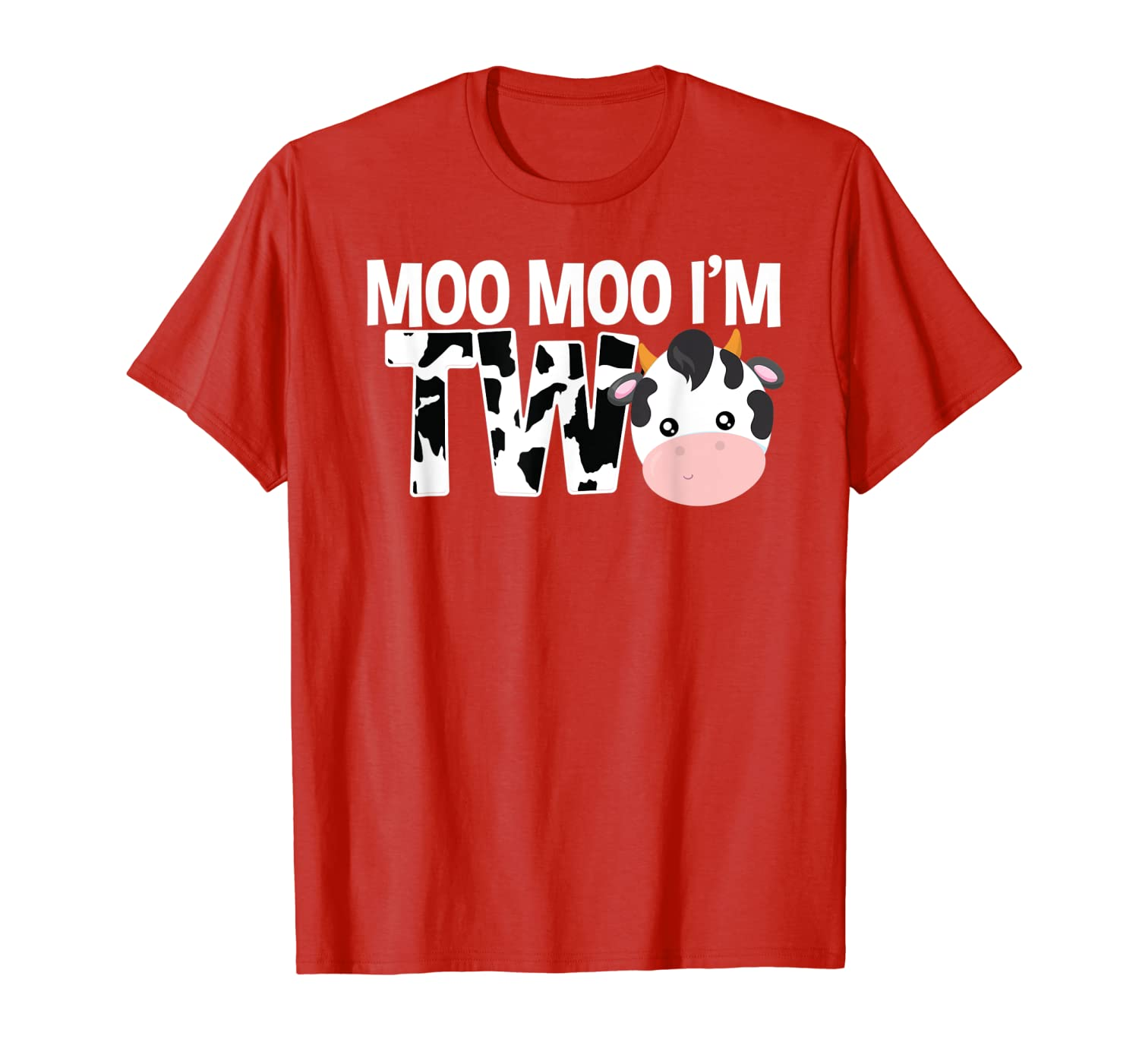 Moo Moo I'm Two 2nd Birthday Funny Cow Sounds Toddler Tee-ANZ