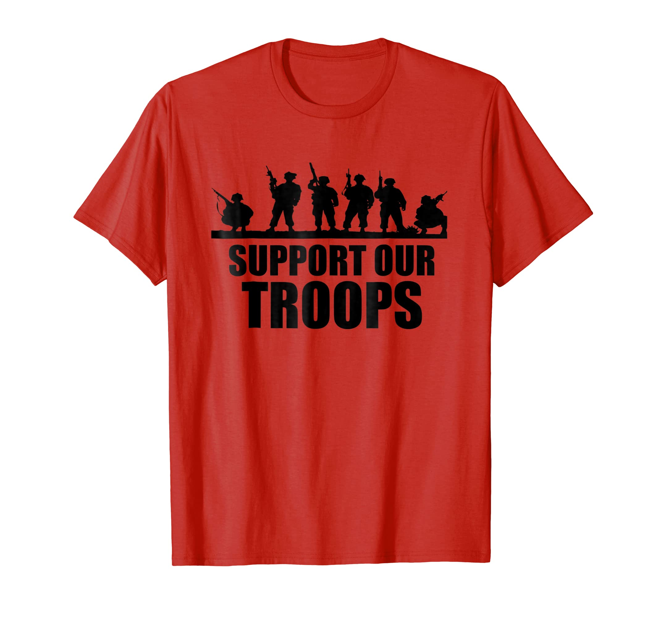 USA Patriotic Military Support Our Troops T Shirt-azvn
