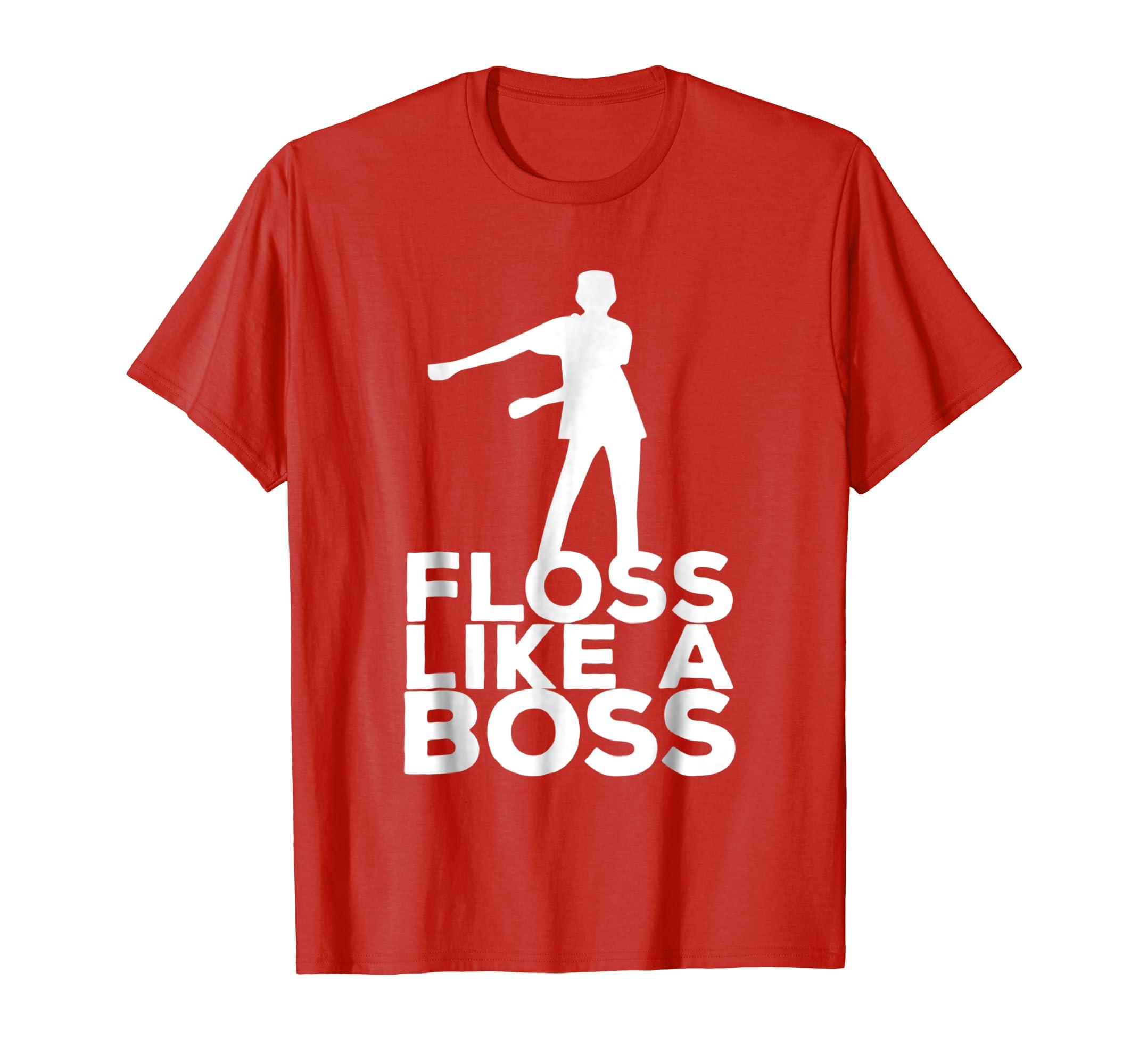9d825bb40ad2 Amazon.com  Floss Like A Boss Dance T-Shirt  Clothing