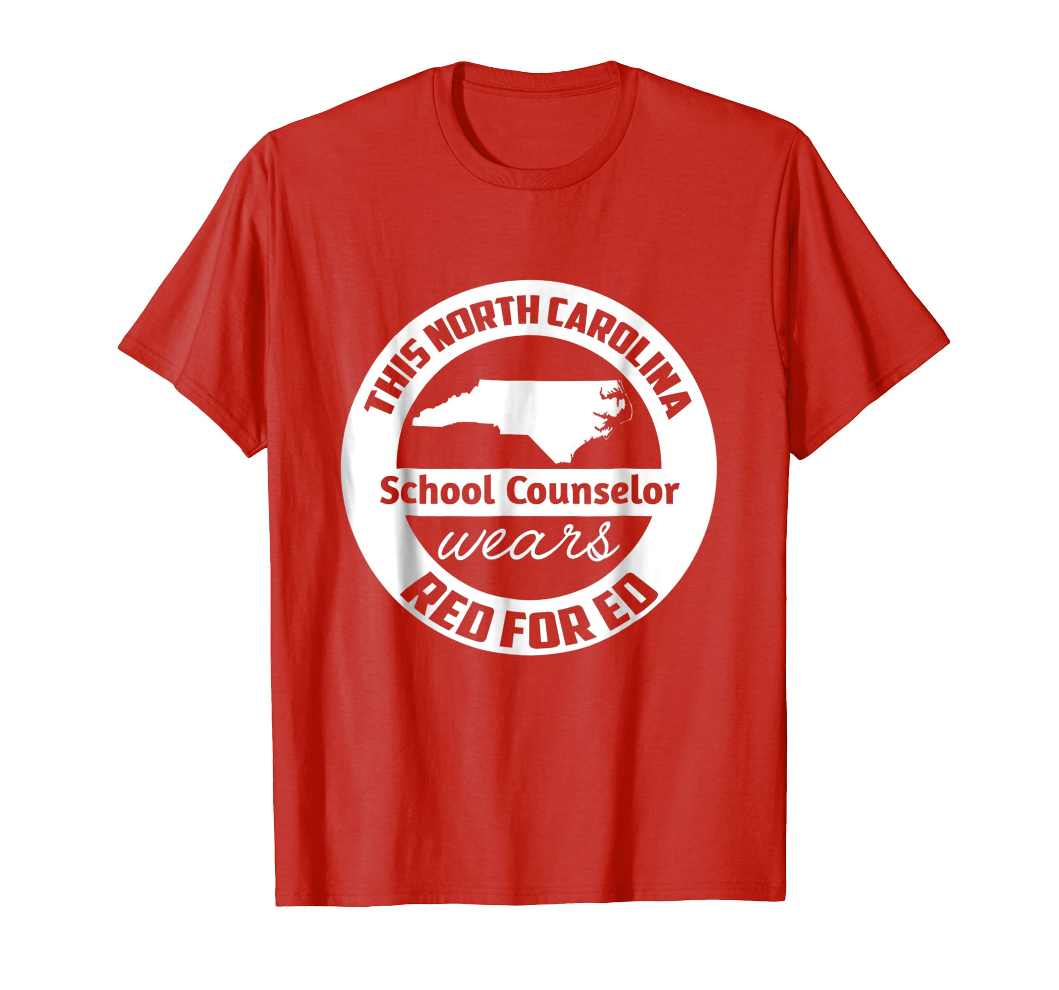 #redfored North Carolina School Counselor Red For Ed T Shirt-alottee gift