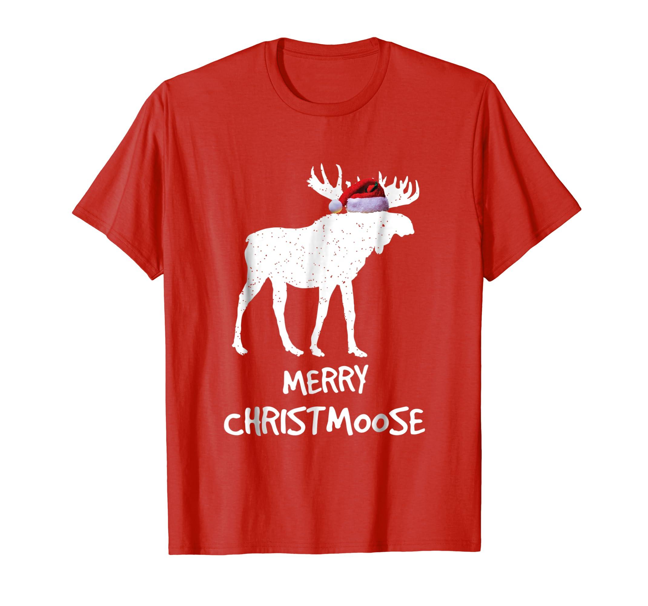 88e2e47a Amazon.com: Merry Christmoose: Funny Christmas Moose Pajama Tee: Clothing