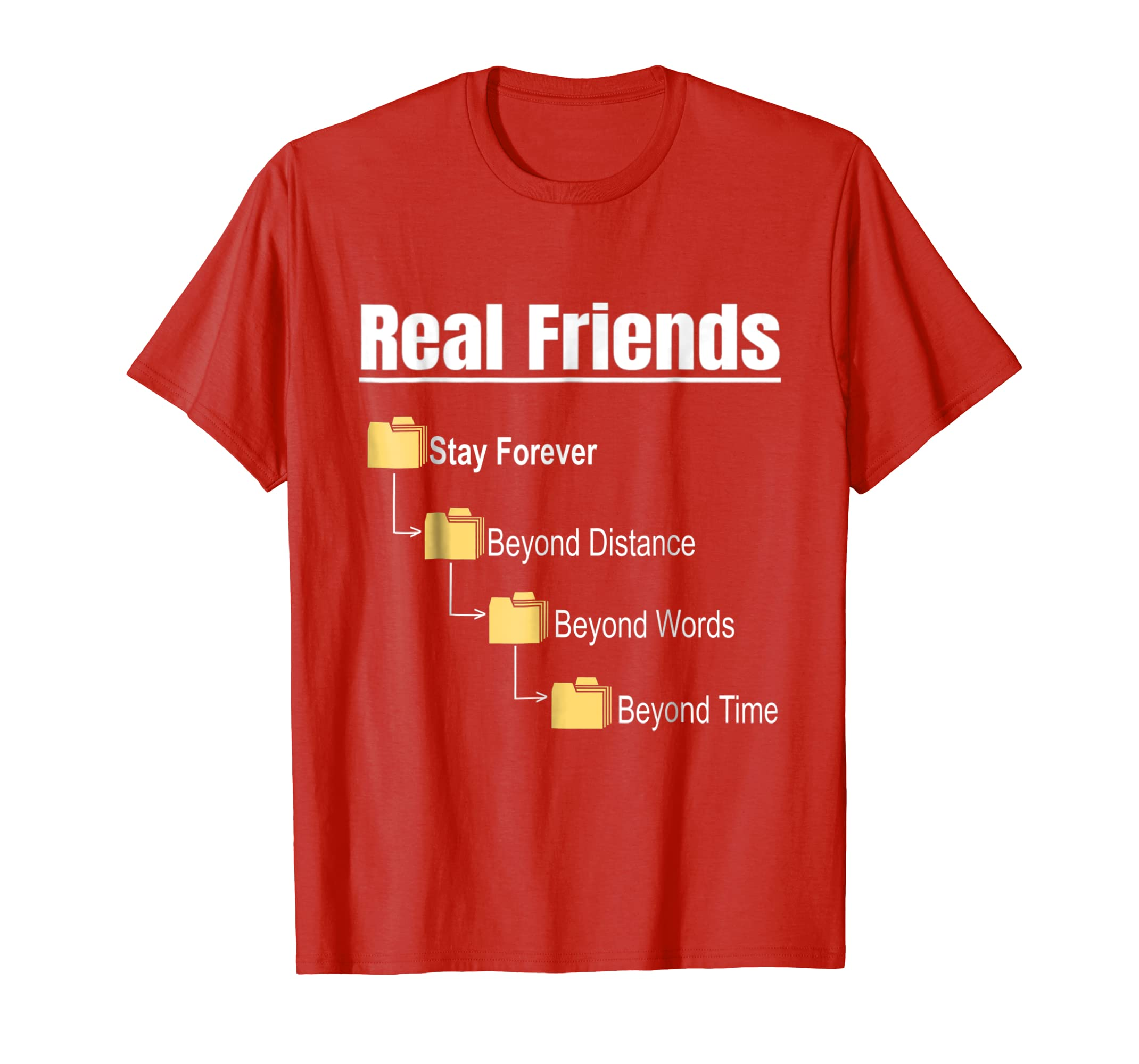 friendship day T-shirt,Real Friends gift, stay forever,funny-AZP