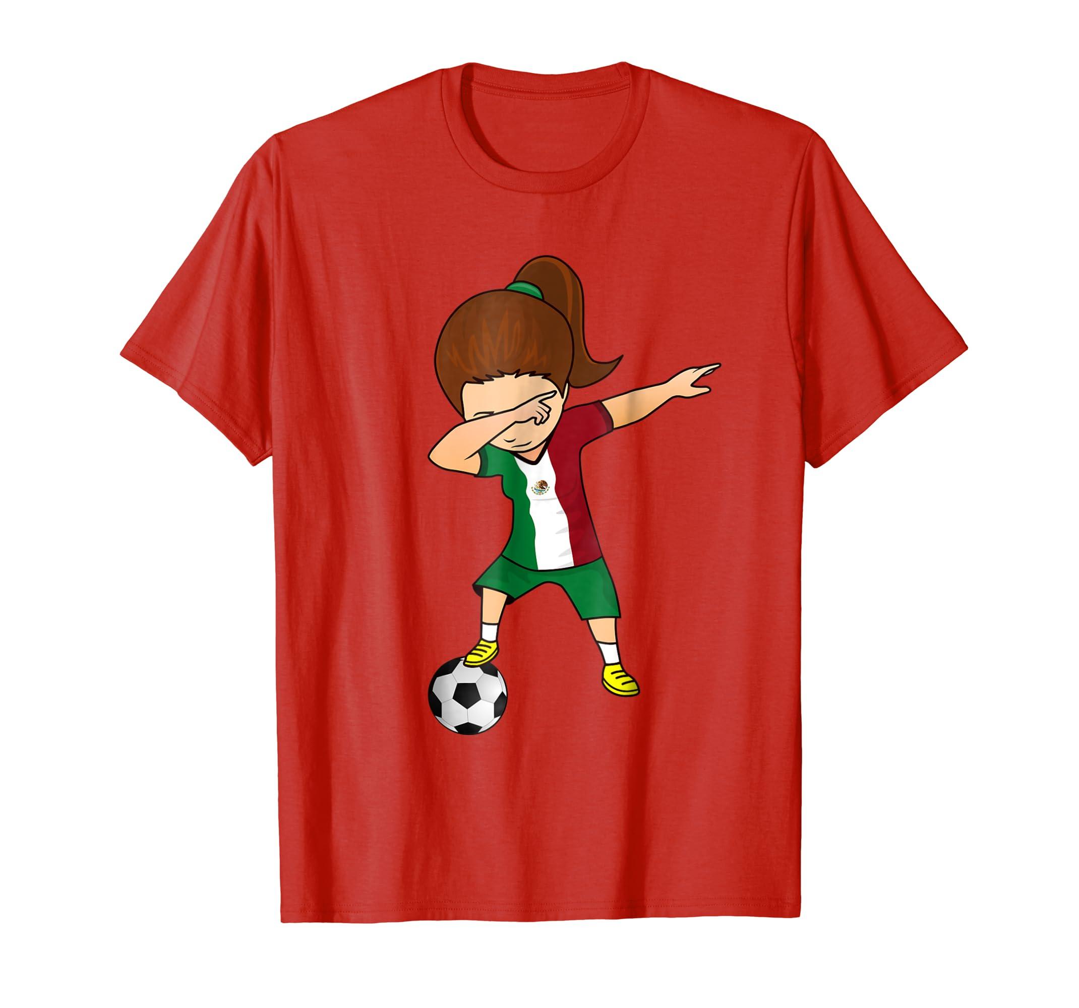 online store 328e1 8bdcf Dabbing Soccer Girl Mexico Jersey Shirt - Mexican Football-fa — Kuxovo