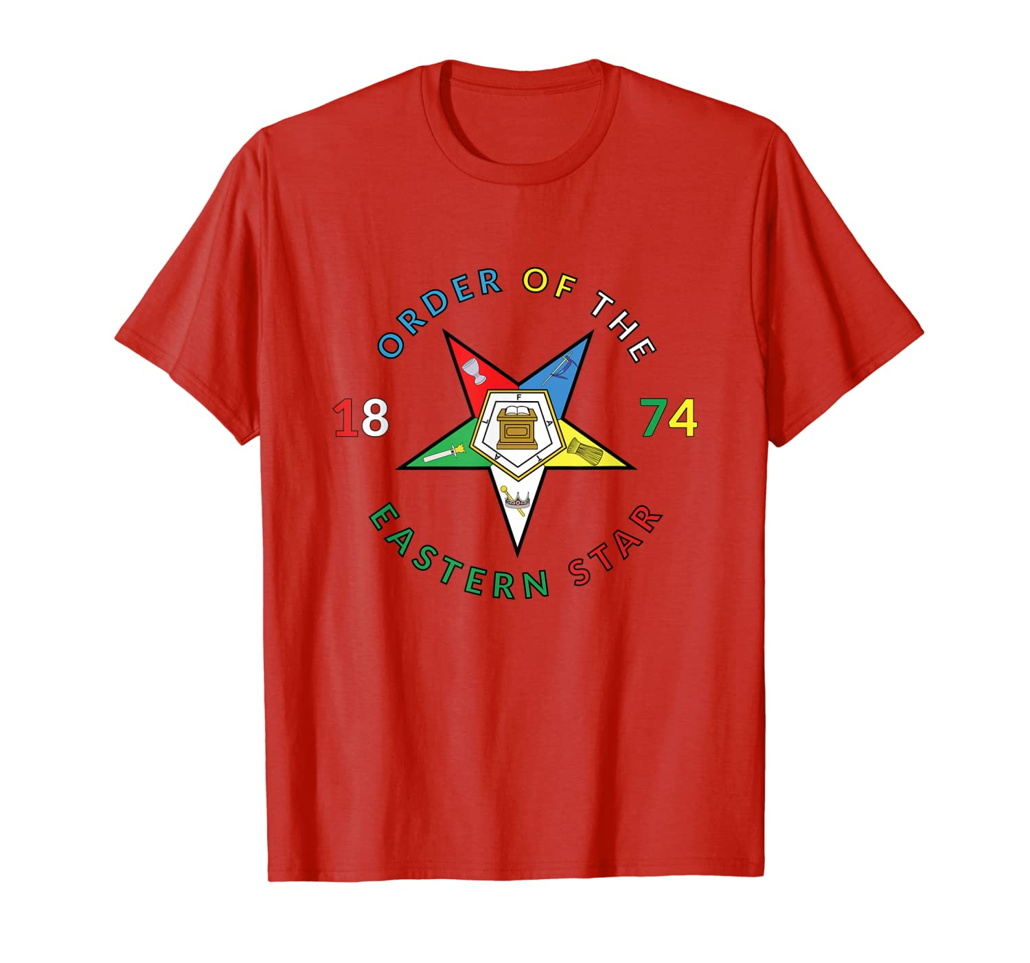 90f49d64 Amazon.com: Order Eastern Star 1874 PHA T Shirt OES Tee Prince Hall:  Clothing