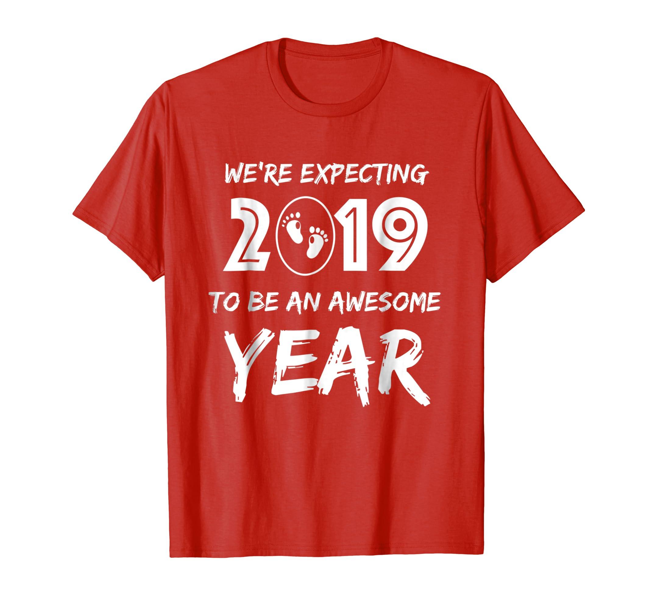 Couples Pregnancy Announcement 2019 T Shirt for Men & Women-Awarplus