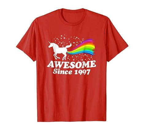 21 21st Birthday Unicorn Farting Rainbow Shirt 1997 Cute
