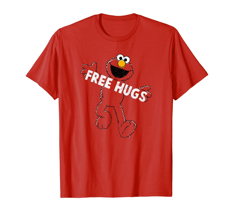 Sesame Street Elmo Free Hugs T Shirt-Loveshirt