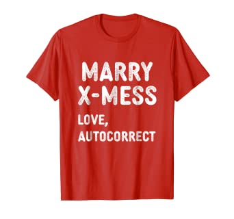 Amazon.com: Funny Merry X-Mass Marry X-mess Auto Correct Christmas ...