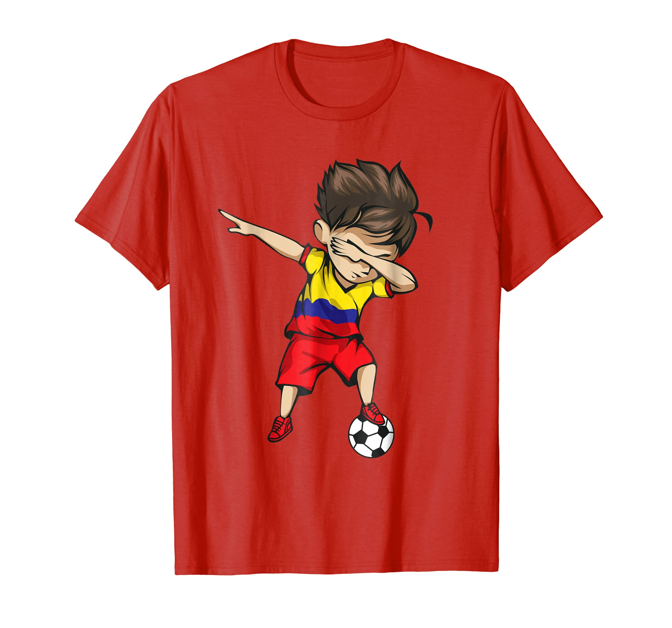 3067e9967b8 Dabbing Soccer Boy Colombia Jersey Shirt Colombian Football-prm ...