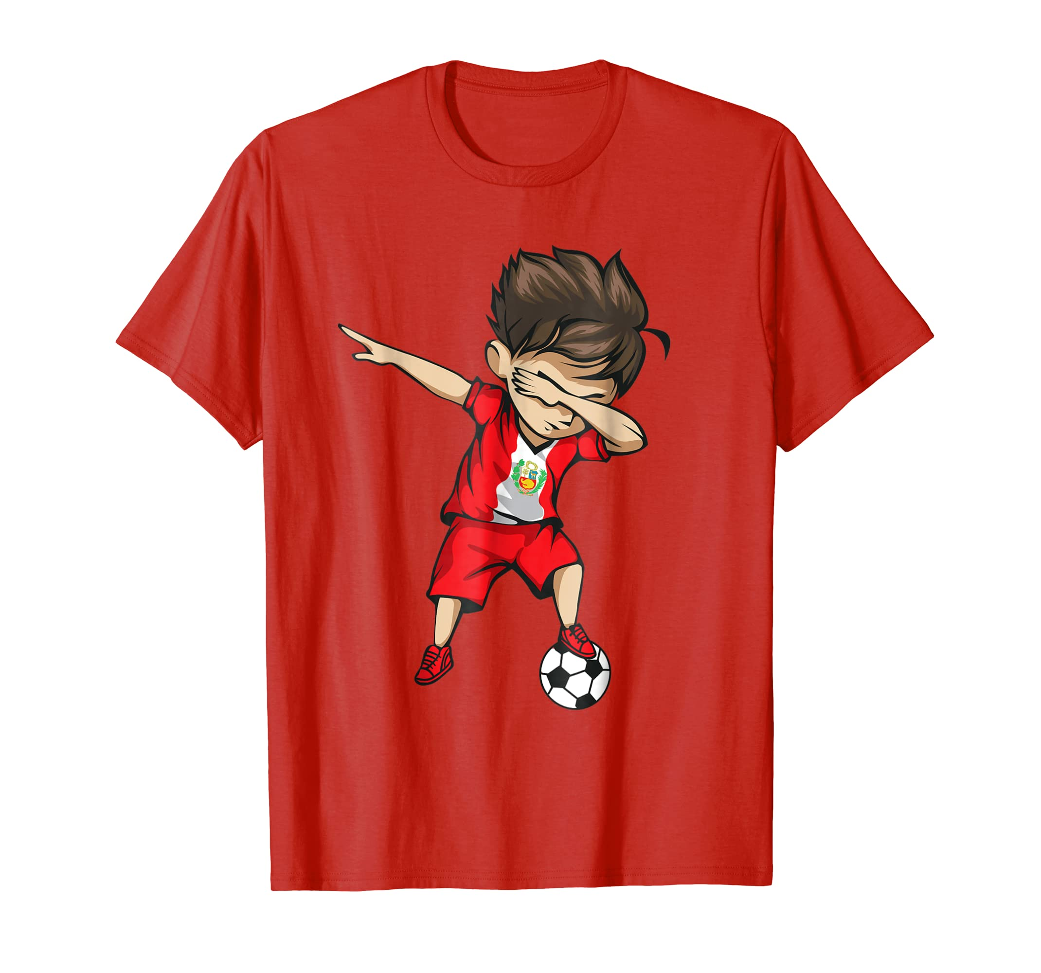 f19b9616e Dabbing Soccer Boy Peru Jersey Shirt – Peruvian Football-prm – Paramatee