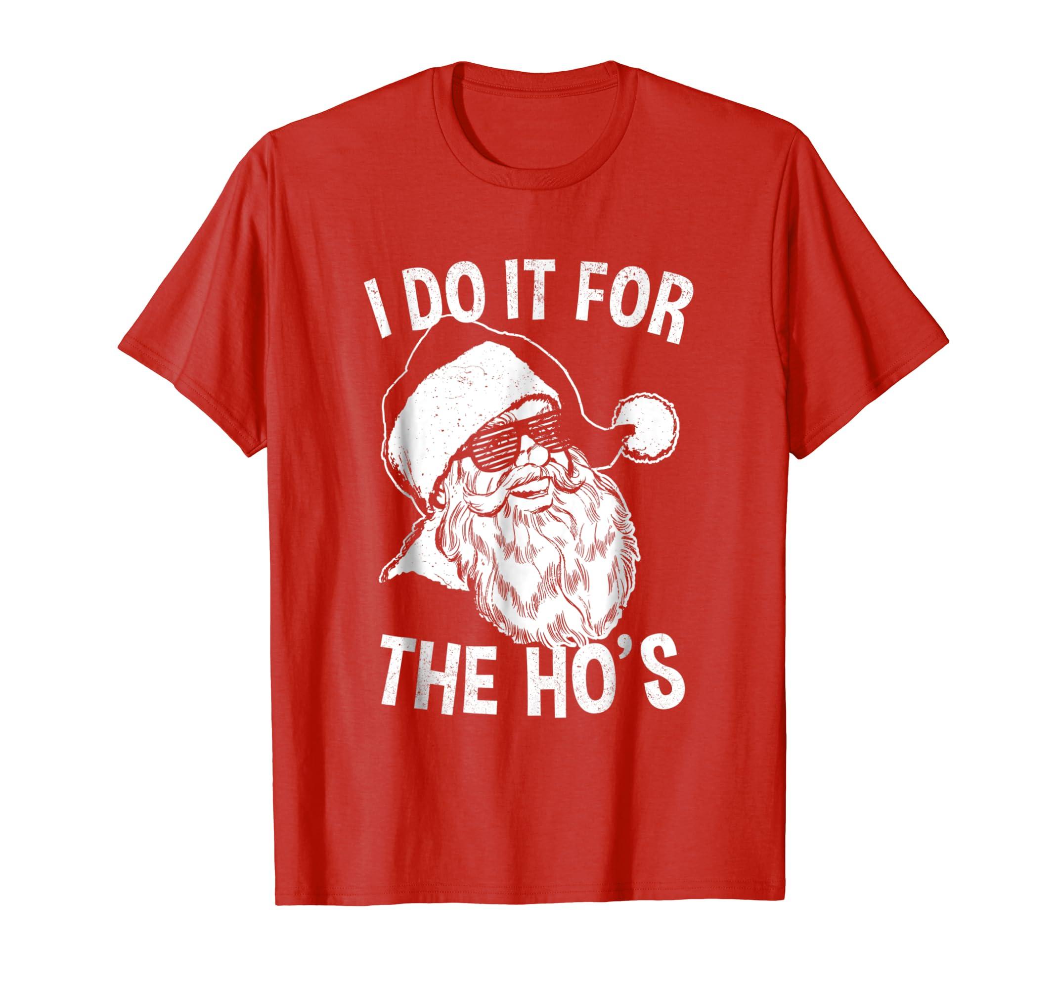 I Do It For The Ho's Shirt | Retro Hipster Sunglasses Santa-azvn
