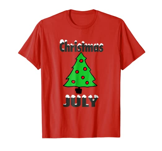 Christmas In July Party.Amazon Com Merry Christmas In July Party T Shirt Funny