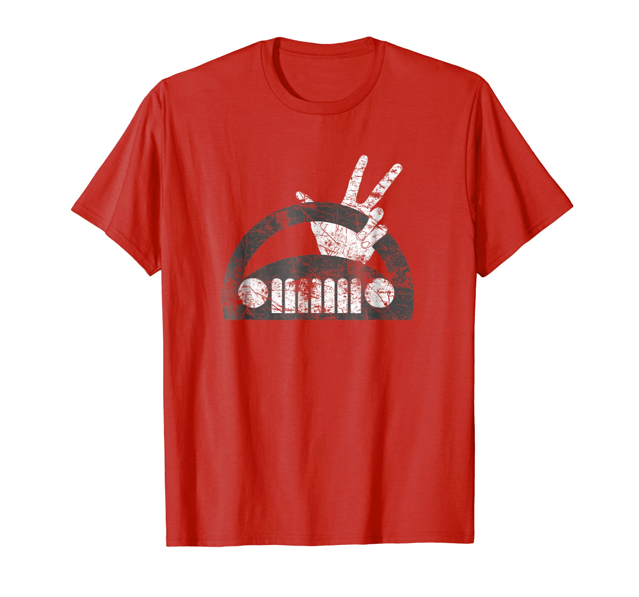 The Jeep Wave You Get It or You Don't Distressed T Shirt-azvn