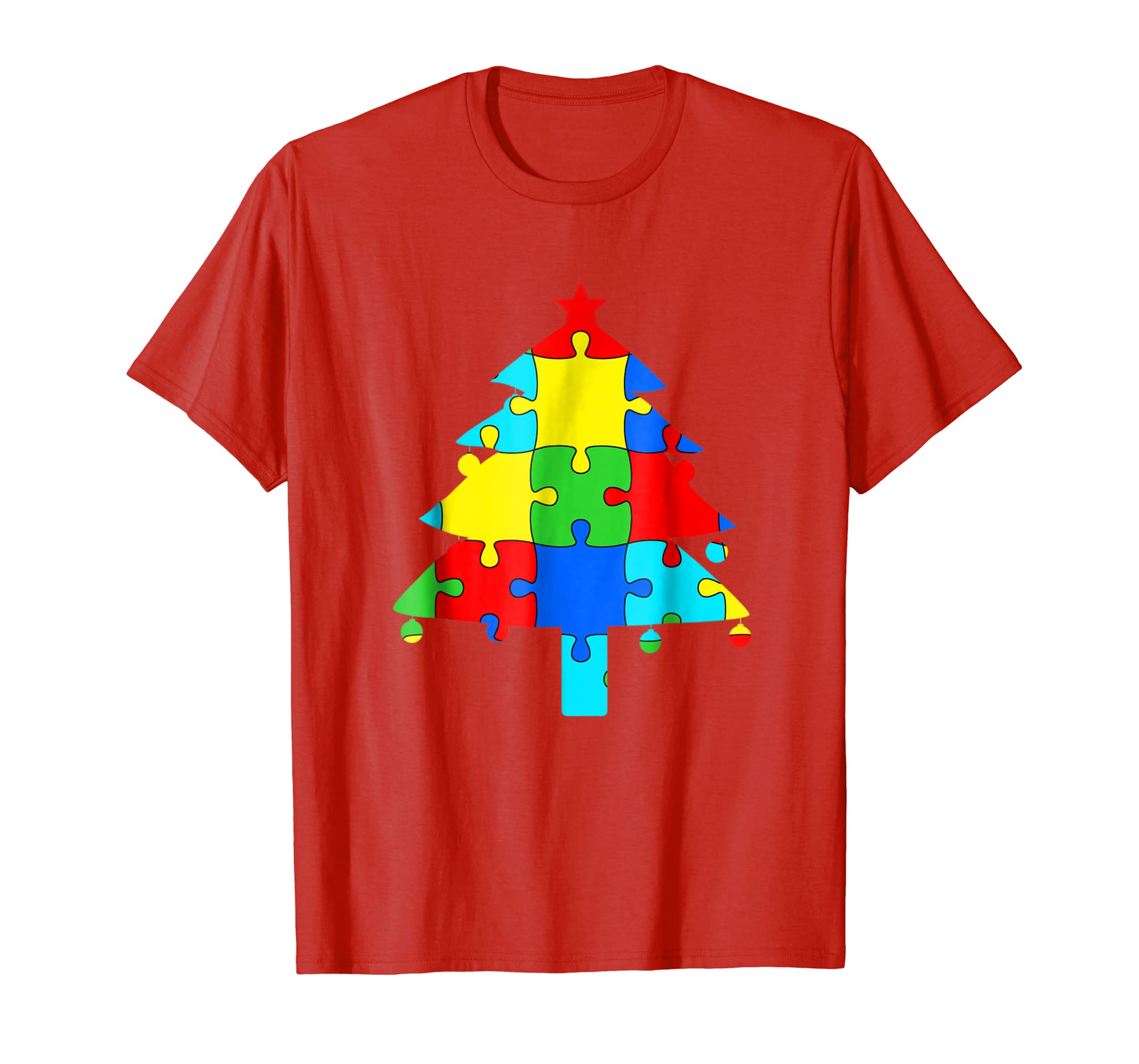 Autism Christmas Tree Shirt From Parents Son Daughter T Gift-SFL