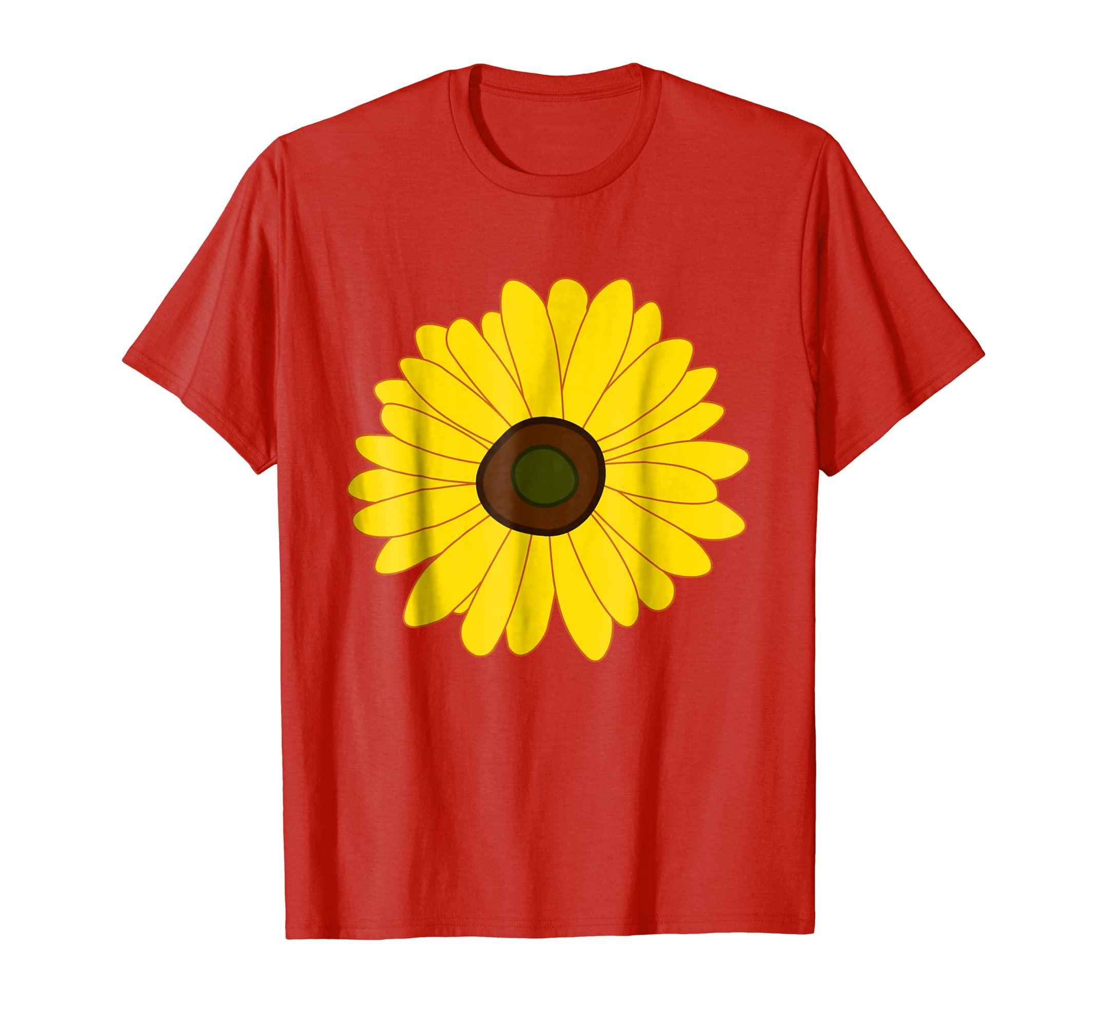 Sunflower - Simple Bright Sunny Yellow Flower T-Shirt-alottee gift