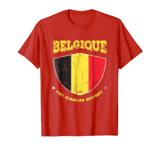 ba091e3e0 Image Unavailable. Image not available for. Color  2018 Belgium Team T Shirt  Champions