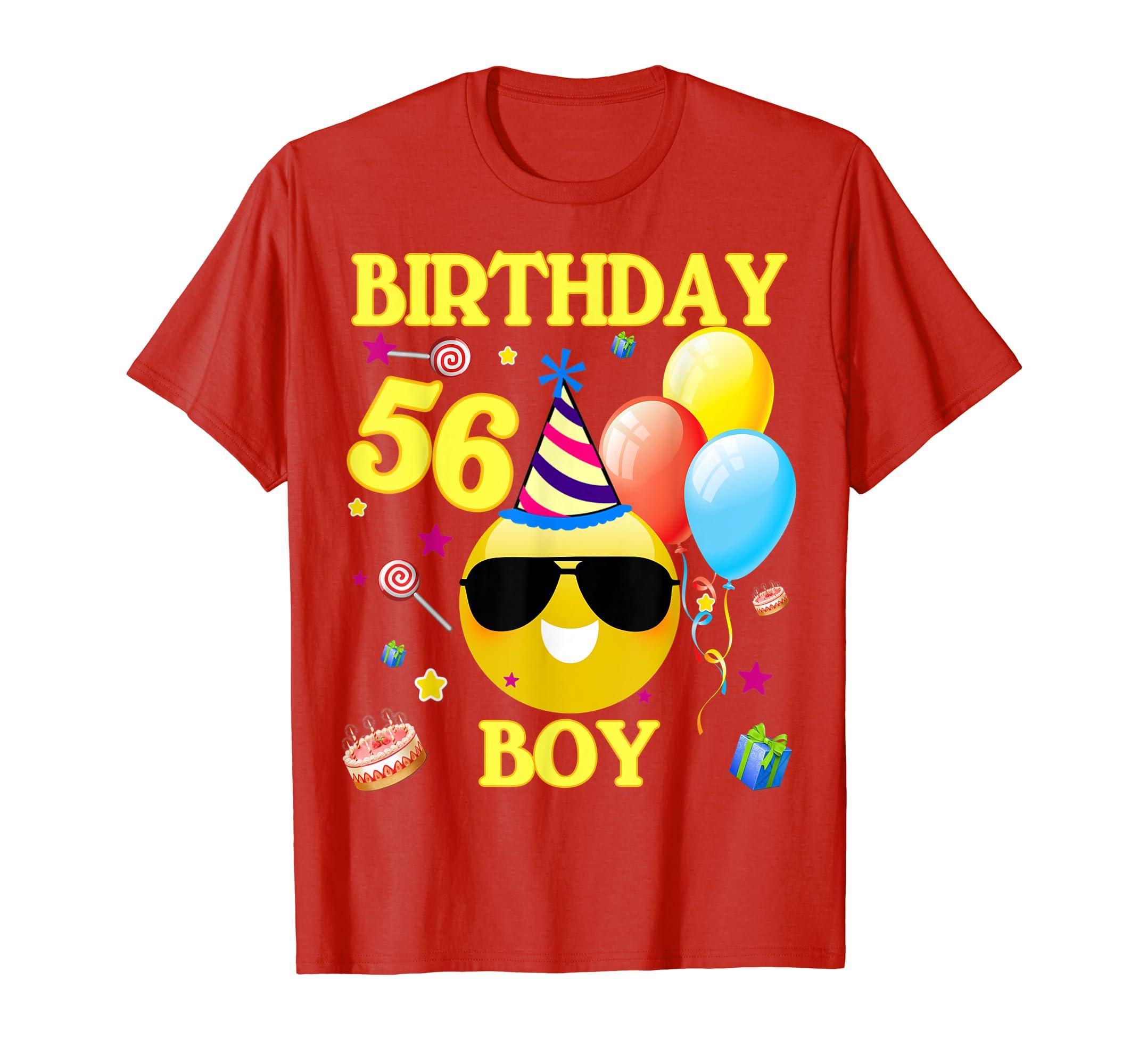Amazon 56th Emoji Birthday Boy Shirt 56 Years Old Gifts A2 Clothing