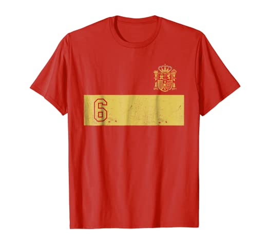 Espana Soccer Jersey Roja Football Futbol T-Shirt Camiseta