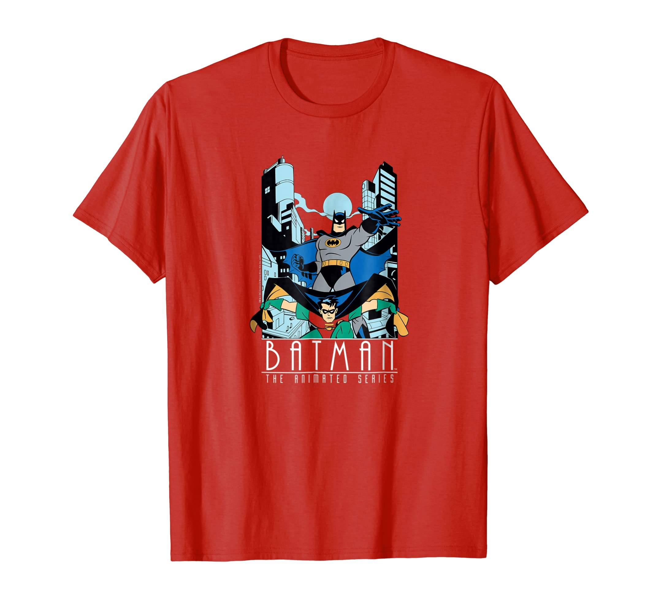 5b95fd51 Amazon.com: Batman: The Animated Series Batman and Robin T Shirt: Clothing
