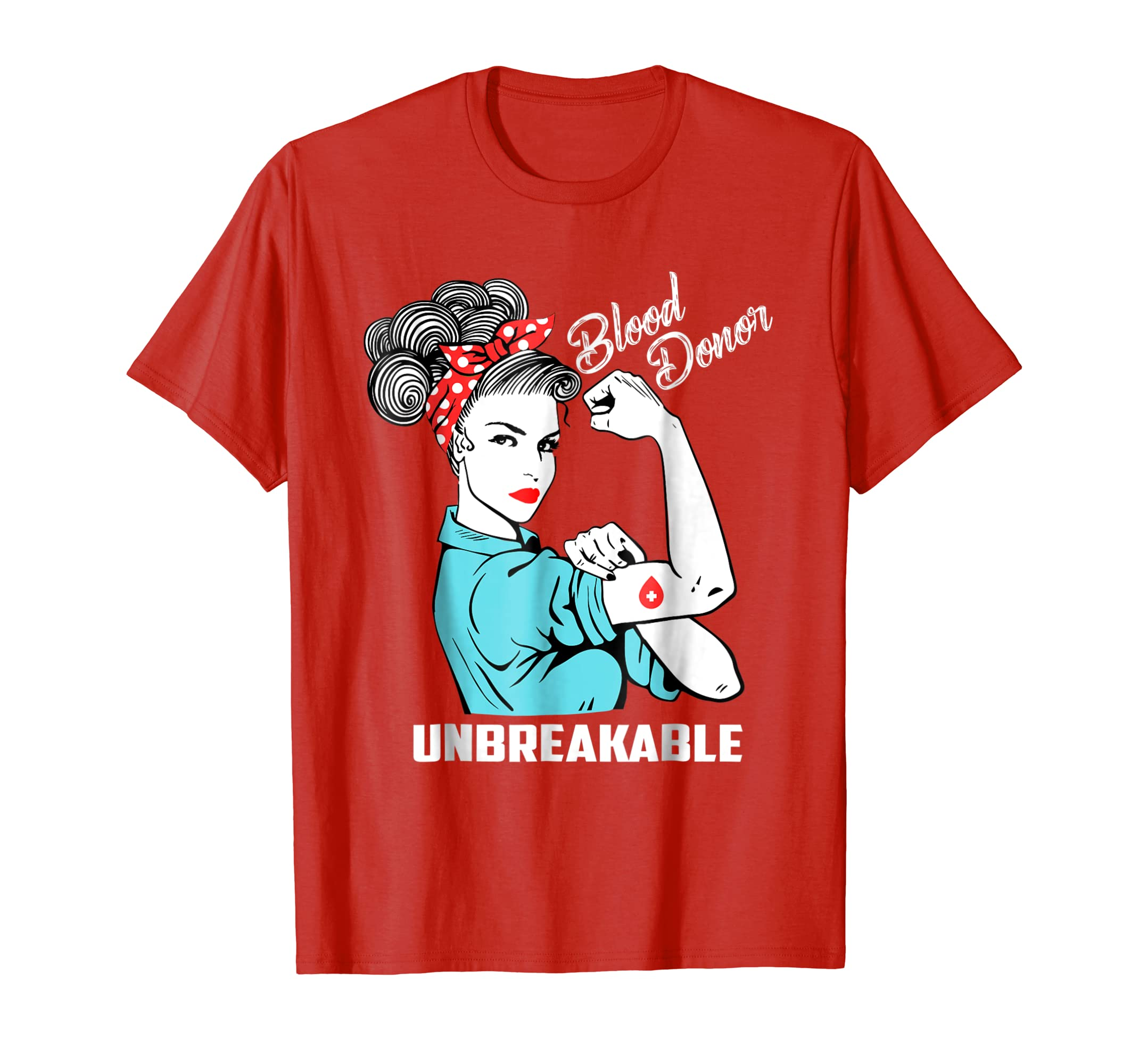 Blood Donor Unbreakable T Shirt Blood Donation Awareness-azvn