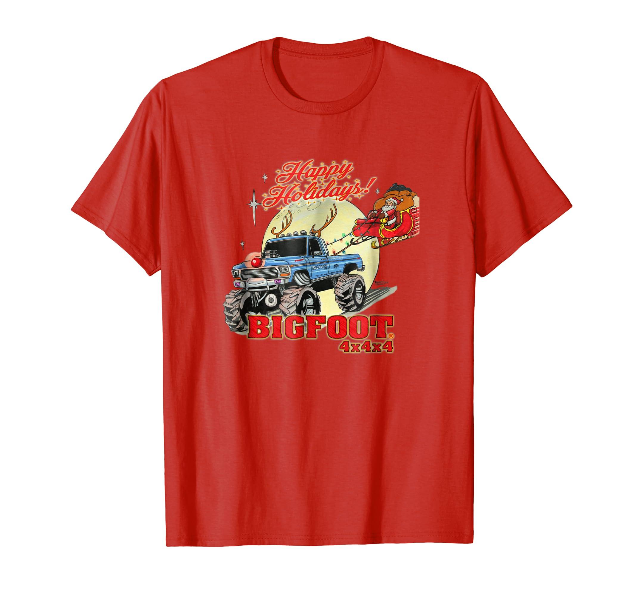 Happy Holidays 2018 BIGFOOT T Shirt (color options 2)-azvn