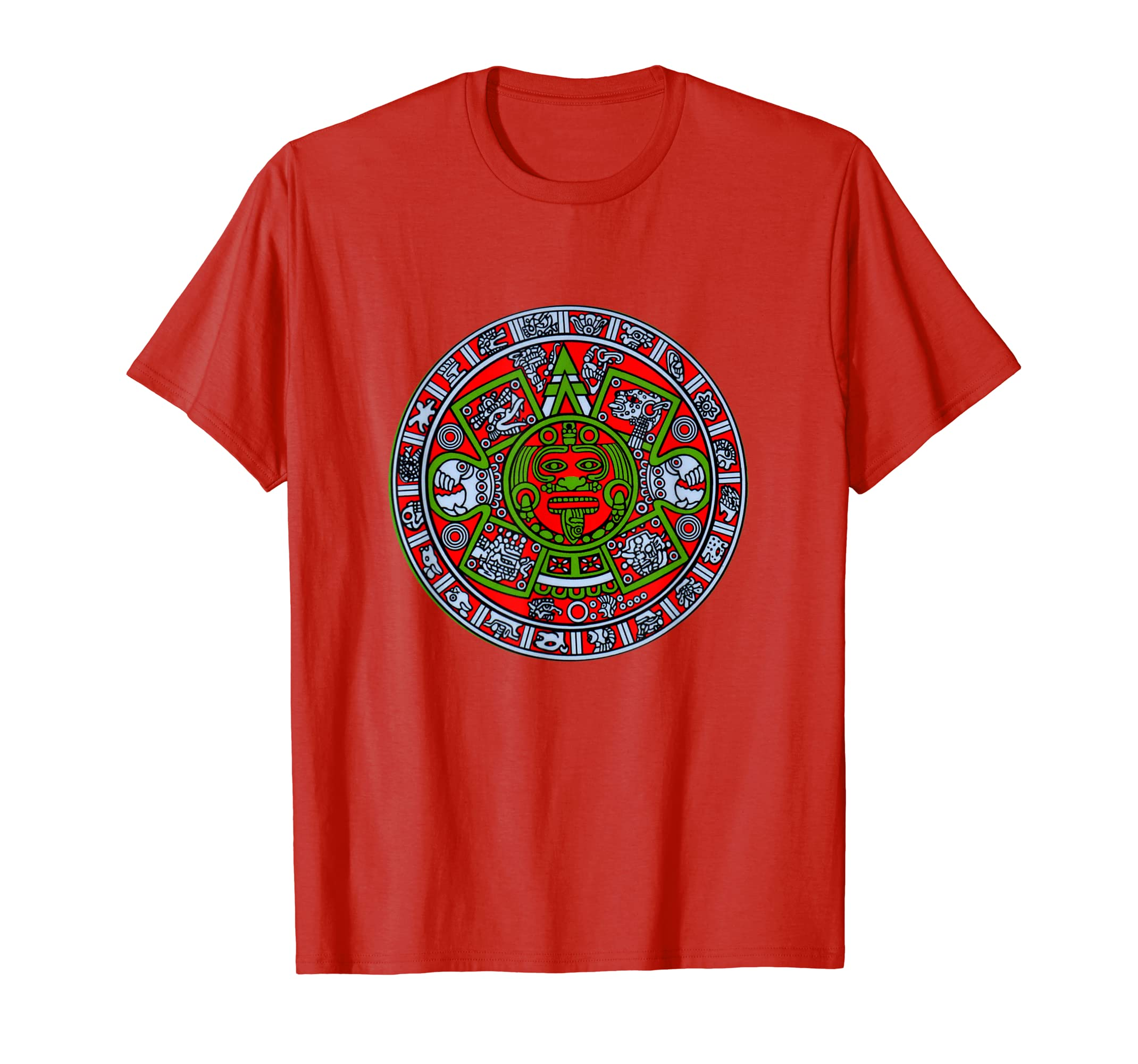 233429283 Amazon.com: Aztec T-Shirt Mexican Empire Mayan Calendar Mythic Symbol:  Clothing
