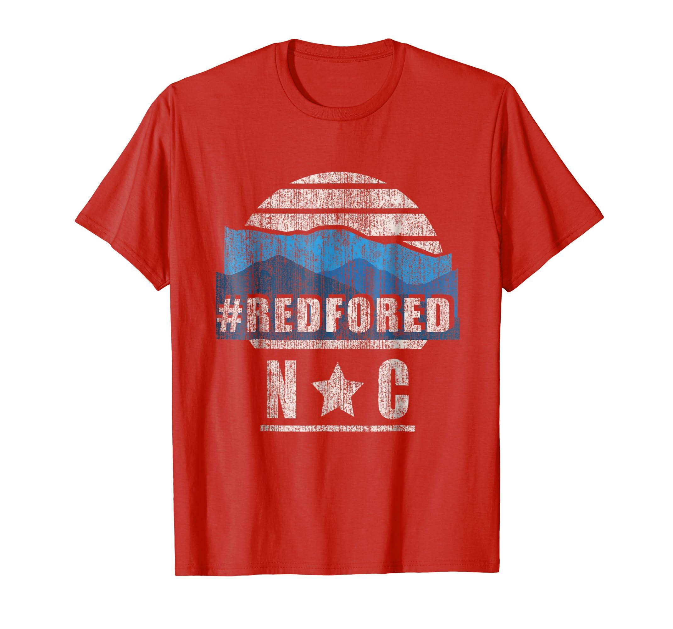 Vintage Red for Ed North Carolina Mountains Tee Shirt-Awarplus