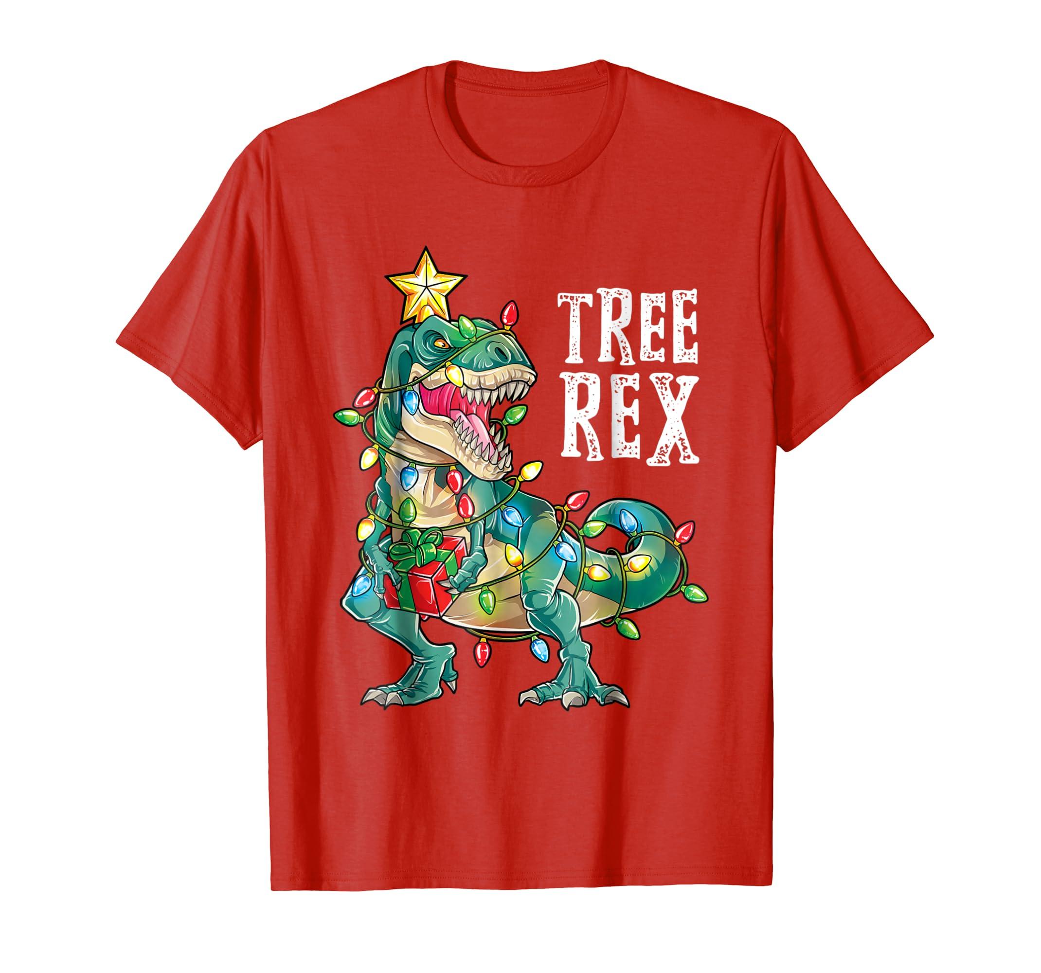 031d51ec3 Amazon.com: Dinosaur Christmas Shirt Tree Rex Boys Kids Men Pajamas Gift:  Clothing