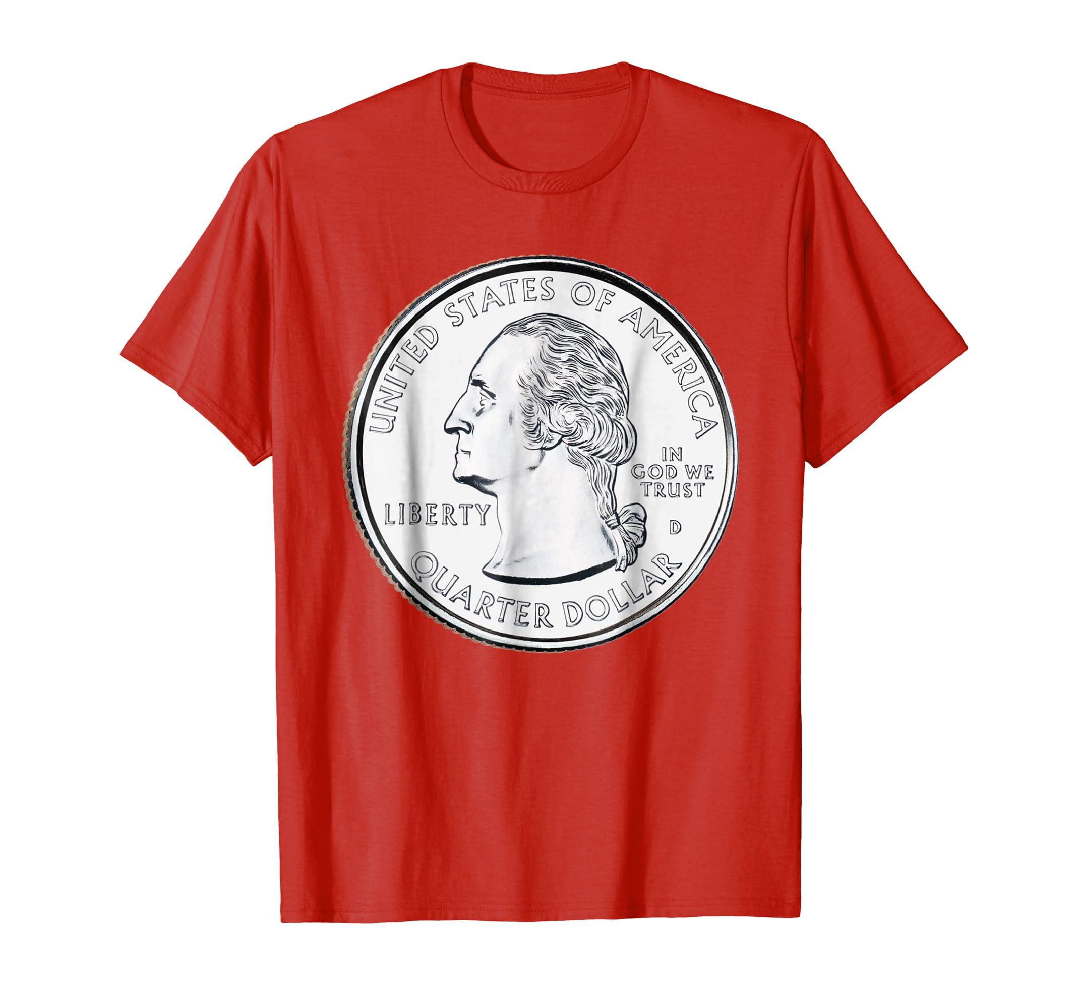 USA Quarter Dollar TShirt 25 Cents America United States-azvn