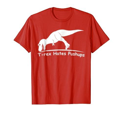 208a1956 Amazon.com: T Rex Hates Pushups T-Shirt: Men's,Women's,Kids: Clothing