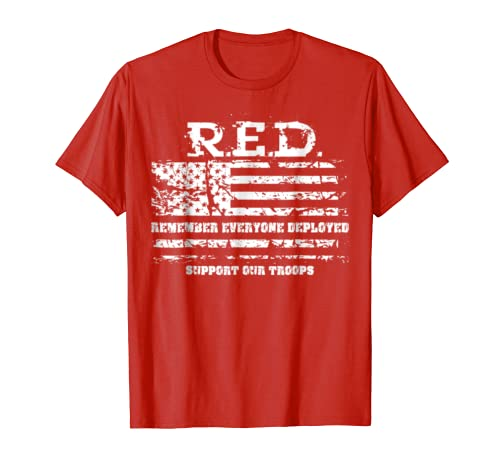 RED Friday Support Our Troops Military T-Shirt