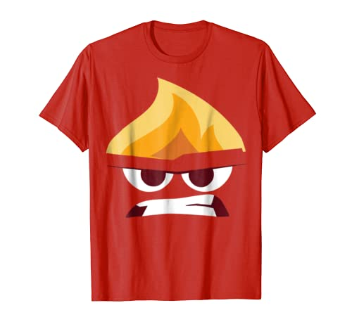 Disney Pixar Inside Out Angry Face Halloween Graphic T-Shirt